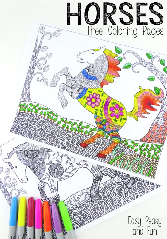 Horses-Coloring-Pages-for-Adults