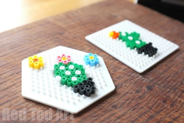 How to use Perler Beads - cute cactus pattern to copy