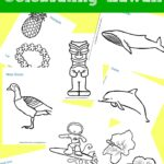 8 Hawaiian Coloring Pages for Kids