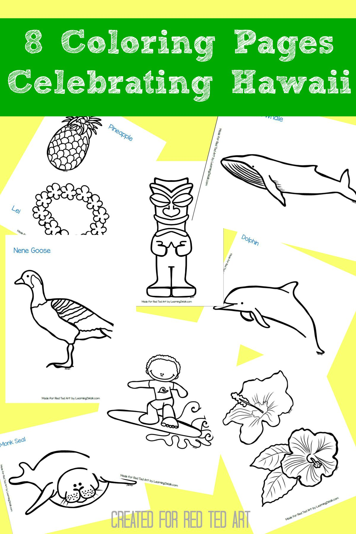 hawaiian coloring pages for children - photo#29