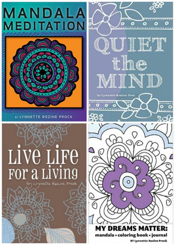 Meditative and calming colouring books as well as self help books. A must read for anyone seeking a quiet mind