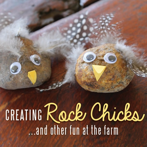 Nature Crafts - adorable Rock Sticks. So cute