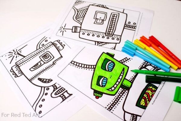 Robots Colouring Pages - free printables for colouring fun, click, print & colour! Perfect for all Robot Loving Kids and Grown Ups alike!