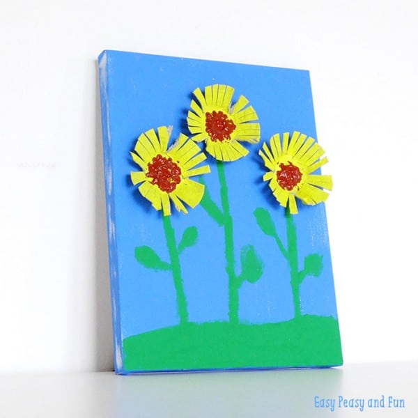Sunflower-Egg-Carton-Craft