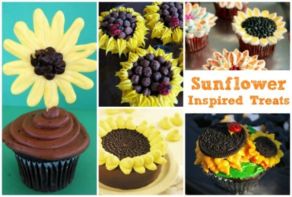 Sunflower Inspired Treats - these look so pretty and are perfect way to celebrate the beautiful Sunflower!