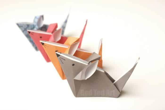 Origami Mice – a Cute Paper Mouse Craft