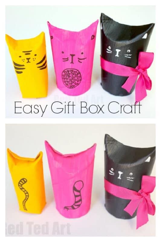 TP Roll Cat Gift Box