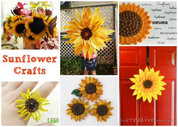 We love Sunflowers, check out these wonderful sunflower crafts - aren't they beautiful I am so inspired to get crafting.
