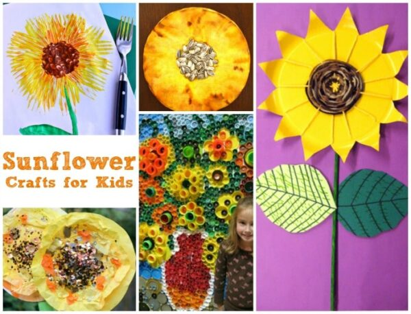 Wonderful Sunflower Crafts for Kids - explore this wonderful flower in so many different ways. Simply gorgeous Sunflower Crafts to inspire!