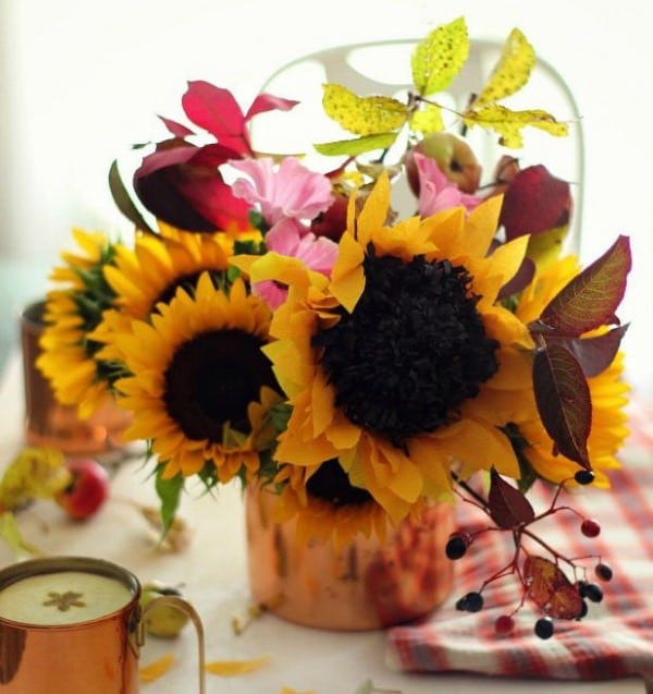 crepe sunflower craft DIY