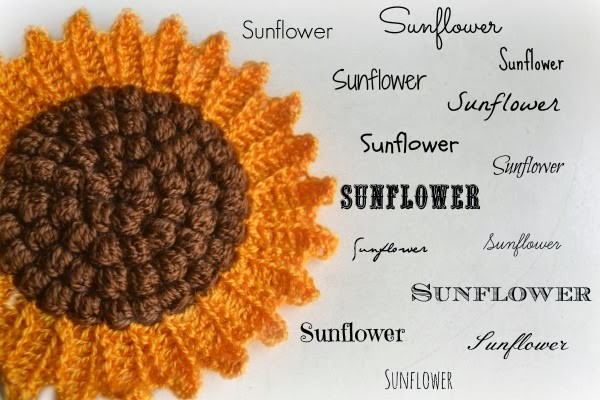 free sunflower pot holder crochet pattern