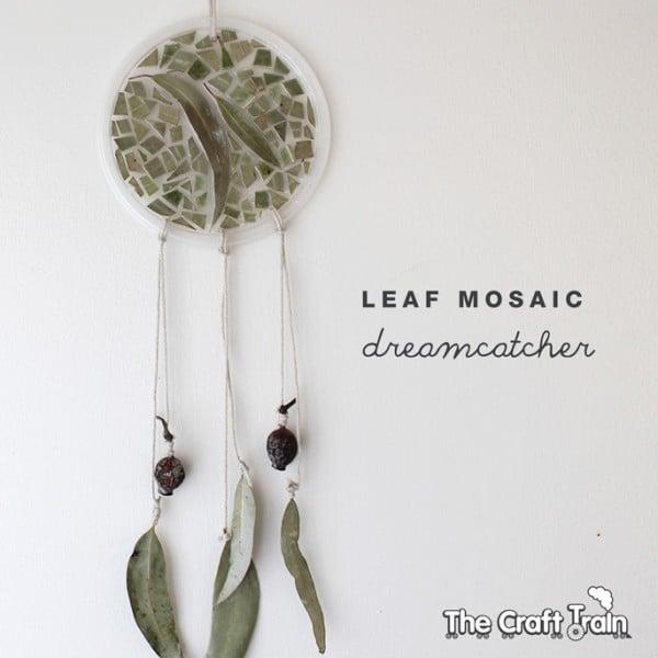 Nature Crafts Ideas - leaf sun catcher and dream catcher - wonderful gumnut craft