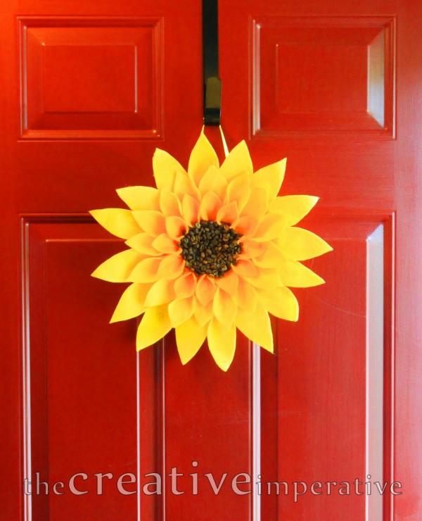 sunflower crafts - sunflower wreath