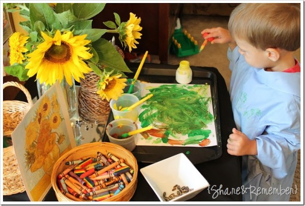 sunflower art project for preschoolers