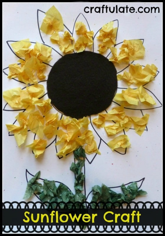sunflower tissue paper craft