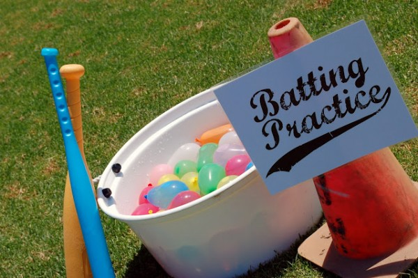 water balloon baseball batting practice