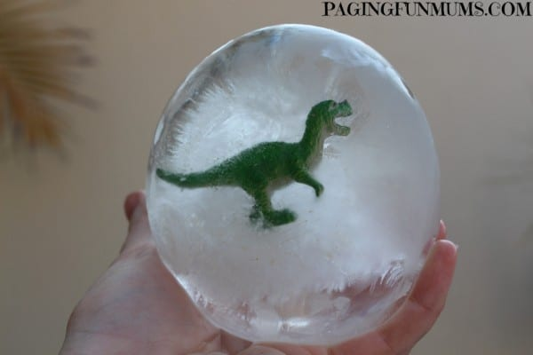 water balloon ideas - ice dinosaur eggs
