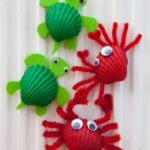 Shell Crafts – Crab Fridge Magnets