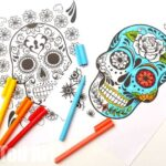 Day of the Dead Colouring Pages for Grown Ups