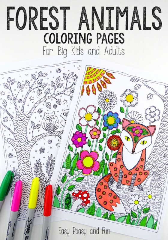 Love colouring? Check out these wonderful Colouring Pages for Grown Ups - perfect for Autumn with these adorable Foxes - perfect Forest Animal colouring.