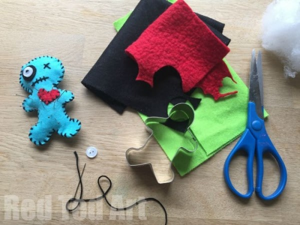 Make your own Voodoo pin cushions - fun activity for Halloween and a great beginners sewing project