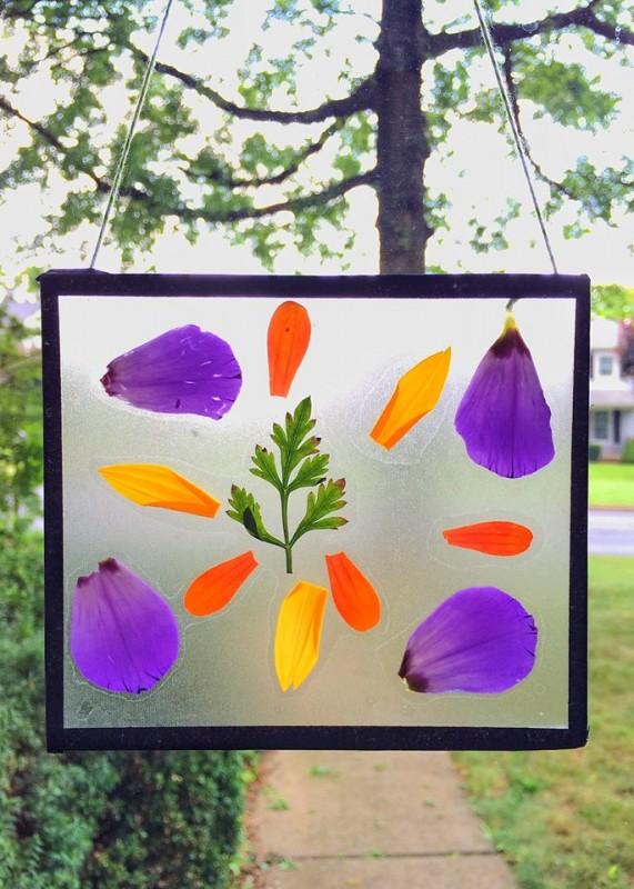 Upcycled CD Cases - nature suncatchers