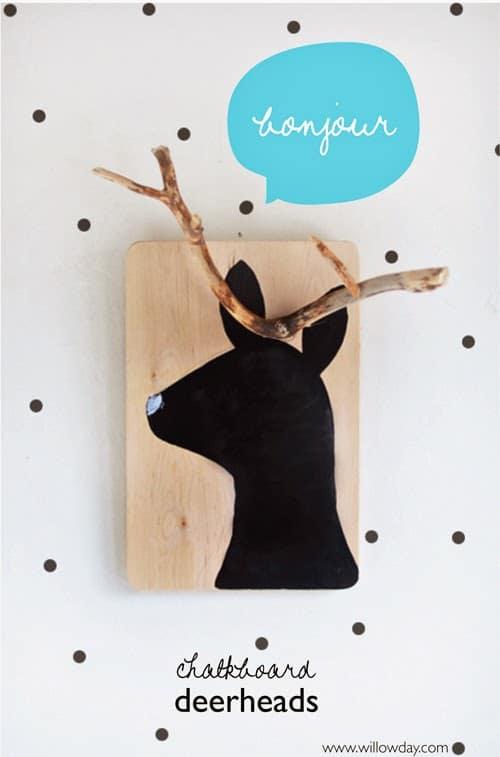 natrue crafts - stick deer heads