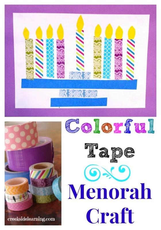 Colorful-Tape-Menorah-Craft-For-Kids