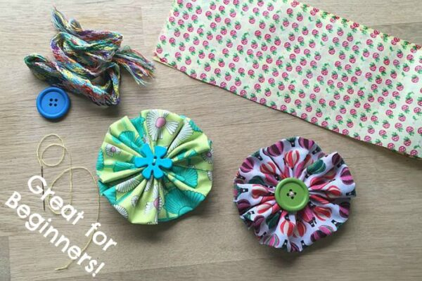 Easy Fabric Flowers - Sewing Projects for Beginners with kids