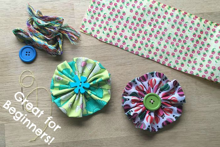 Sewing For Beginners Easy Fabric Flowers Red Ted Art S Blog