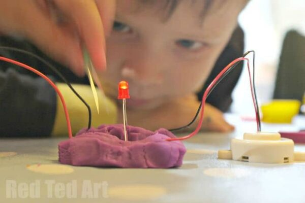 Electric Playdough easy science for kids