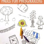 Fall Coloring Pages for Preschoolers
