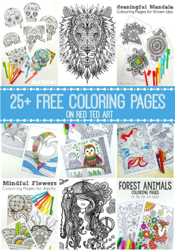 Free Coloring Pages for Adults - 25+ themed sets