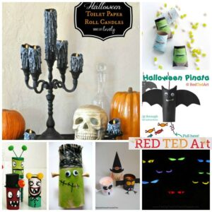 Halloween TP Roll Crafts - 20 brilliant crafts for Halloween made from the humble TP Roll, you have to check them all out