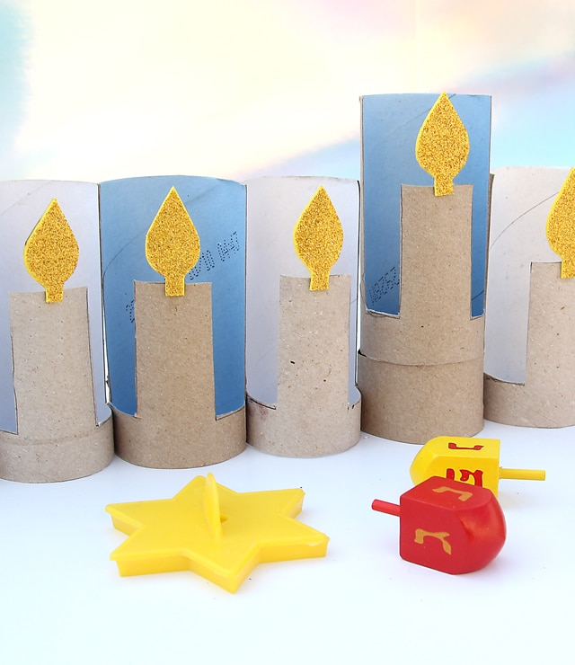 TP Roll Hanukkah crafts for kids