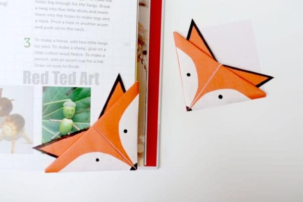 How To Make An Origami Bookmark Corner Red Ted Art S Blog