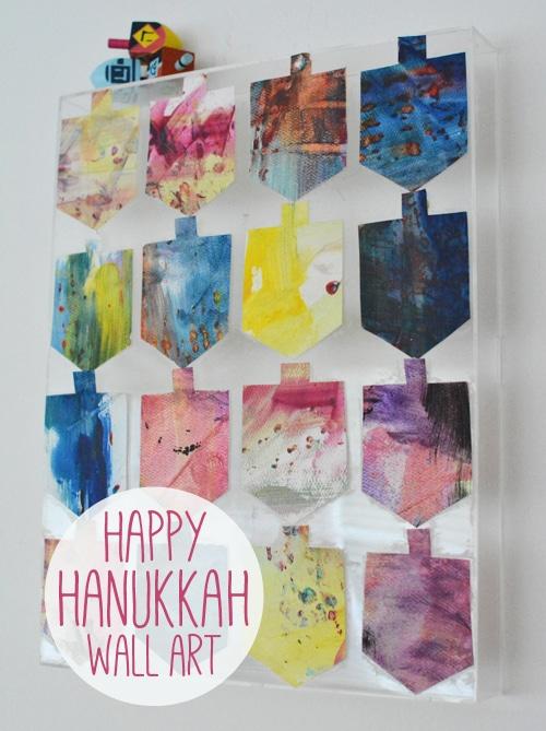 dreidel wallart for Hanukkah