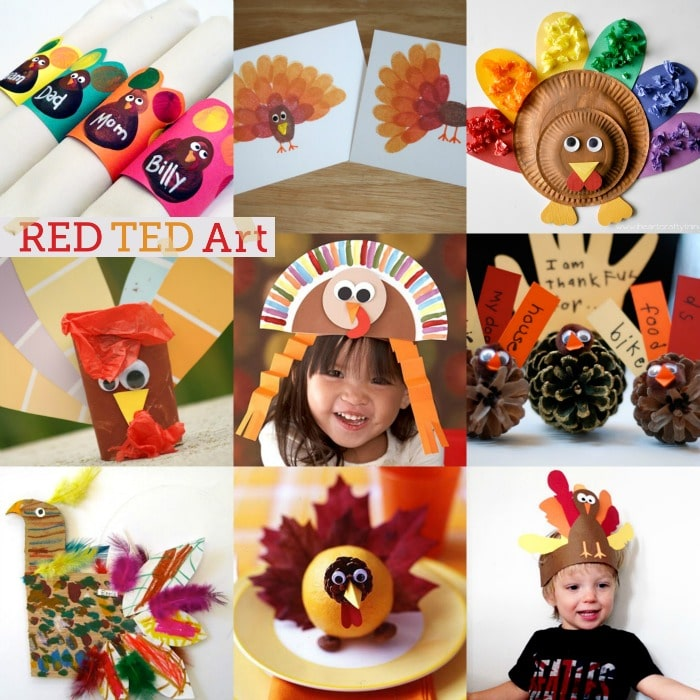 20+ Turkey Crafts for Thanksgiving