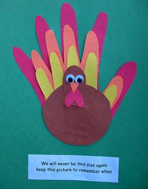 Family Handprint Turkey