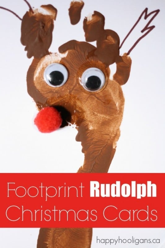 Footprint-Rudolph-Christmas-Cards