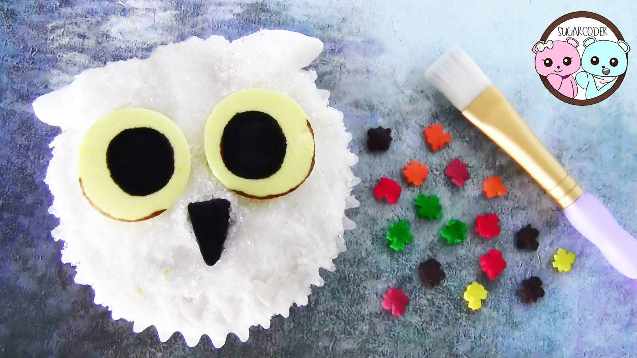 Harry Potter Craft Ideas For Kids Part - 37: Harry Potter Ideas U2013 Hedwig Owl Cupcakes