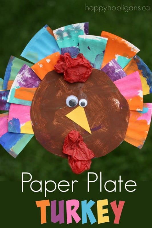 Paper-Plate-Turkey-Craft-for-Thanksgiving