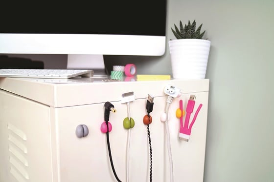cable tidy home hack with sugru, so clever