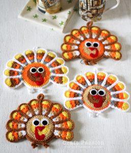 crochet-turkey-coaster
