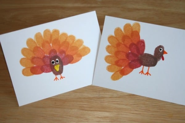 fingerprint turkey craft for thanksgiving