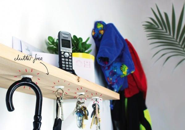 key holder magnets - home hacks with sugru
