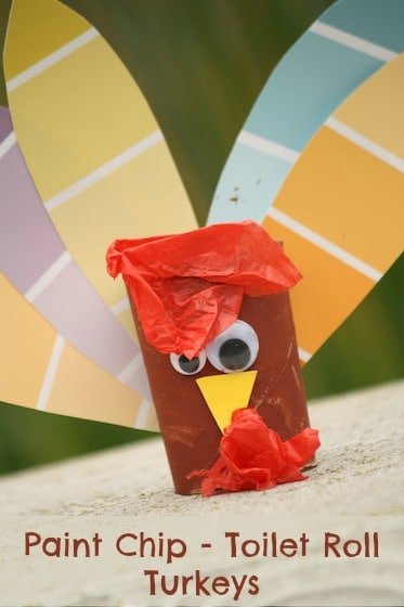 paint-chip-turkey crafts for kids