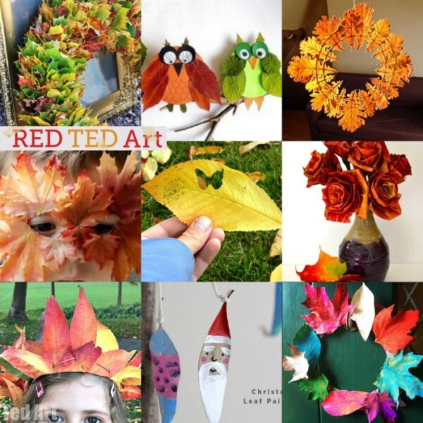 20 Wonderful Leaf Crafts for Autumn - so many beautiful ideas here. Perfect for celebrating autumn or incorporating into your Thanksgiving decor and activities. #leaves #leaf #leafcrafts #autumn #fall #leafcraftsforkids #craftsforkids