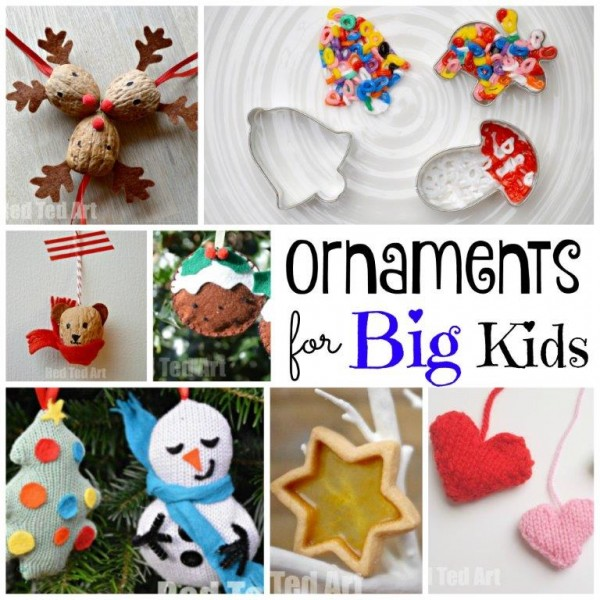Diy Christmas Ornaments Red Ted Art