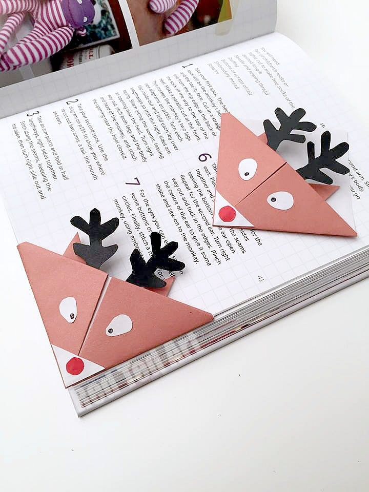 bookmark adorable reindeer bookmarks these are so so cute and simple to make they nestle - Bookmark Design Ideas
